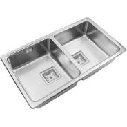 Pileta Bacha Doble Cocina Johnson Quadra Q76a Cta