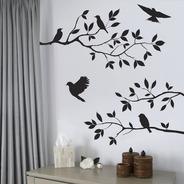 Diseño Pájaros Y Ramas De Árbol Vinilo Decorativo Decoración
