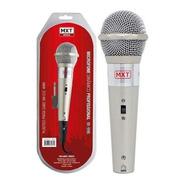 Microfone Profissional Mxt M-996 Dinâmico C/ Metros Cabo 3,0