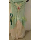 Vestido De Tiana La Princesa Y El Sapo Usado