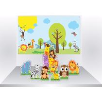 Kit Cenario Display Chão E Mesa 7pc+ Painel Escolha Seu Tema
