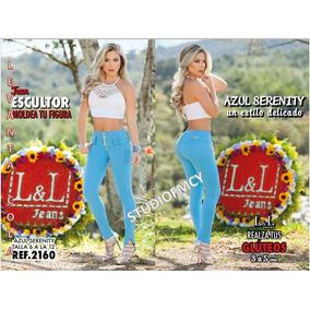 Jeans Pantalones De Dama Talle Alto Lyl Tipo Studio F