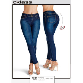 Jeans Stretch Azul Mezclilla Levanta Glúteos 151-54 Cklass
