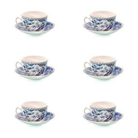Juego De Té Devon Cottage Porcelana Johnson Bros - 12 Piezas