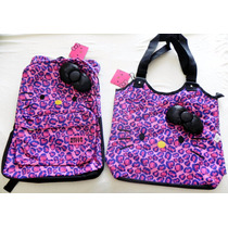 Set Mochila Y Bolsa Hello Kitty By Ruz Nueva Y Originales