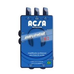 Amplificador Fone De Ouvido Ampliphone R2 Retorno Click