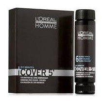 Loreal Homme Cover 5 Castanho Escuro Nº5 + Ox - 3x50ml