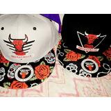 Gorra Plana Con Visera Chicago Bulls Nueva Rosas