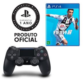 Controle Dualshock 4 Playstation + Jogo Fifa 19 - Ps4