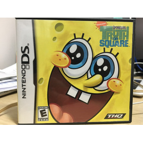 Jogo Nintendo Ds Bob Esponja - Truth Or Square Original