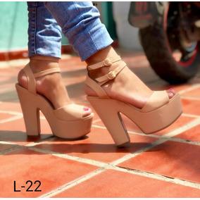 081e9180 Zapatos De Tacon Medio Y Ancho - Ropa y Accesorios Beige en Mercado ...