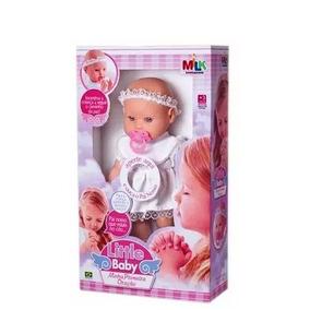 Boneca Baby Minha Primeira Oração 40cm Reza O Pai Nosso Milk