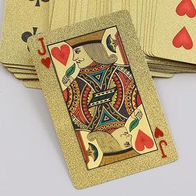 Baralho Dourado Ouro 24k Folheado Poker Truco Pronta Entrega