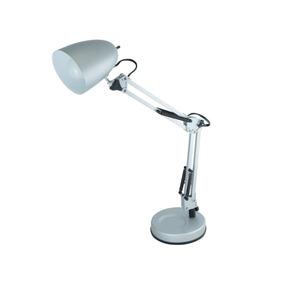 Lámpara De Escritorio Aluminio Plata 60w E27