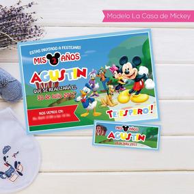 Invitacion Imprimible Personalizada La Casa De Mickey
