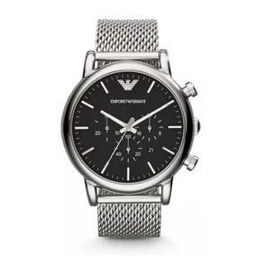 4dac83d9548 Relógio Empório Armani Preto Aço Ar0334 Original Ar 0335 Exchange ...