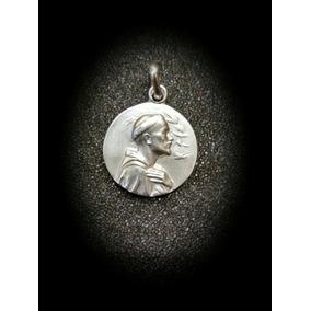 Medalla En Oro Blanco De San Francisco De Asís