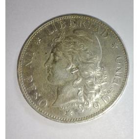 Moneda Argentina 1 Peso Patacon 1882 Plata Error Cj#13.1.3