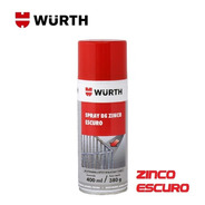 Spray Zinco Escuro Anticorrosivo Chapas Zincagem Wurth 400ml
