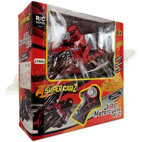 Motocicleta Súper Rc 1:10 Radio Control 100% Supercarz 22cm