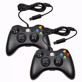 Kit 2 Controle Joystick Xbox 360 Computador Notebook C/ Fio