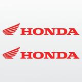 Par De Adesivos Logo Honda Motos 18cm A144