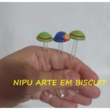 Frete R$12,00 50 Colheres Biscuit Patati Patatá 1,8cm