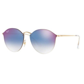 81a01f259fb15 Oculos Sol Ray Ban Blaze Round Rb3574n 001 x0 59mm Azul Espe