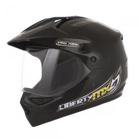 Capacete Motocross C/viseira Preto 58 Pro Tork