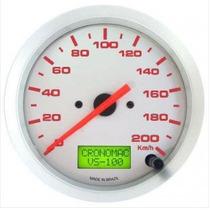 Velocímetro Cronomac Eletrônico 100mm/200km/h/ Linha Racing
