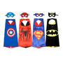 Capas Super Heroes Con Antifaz (precio Liquidacion) Ultimas