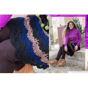 Pollera Manawee Mujer Tejida Al Crochet