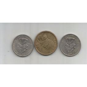 M 363 Estados Unidos Lote 3 Monedas Un Dolar,cuarto De Dolar