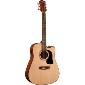 Guitarra Washburn Electroacustica Ad-5ce Natural Y Funda