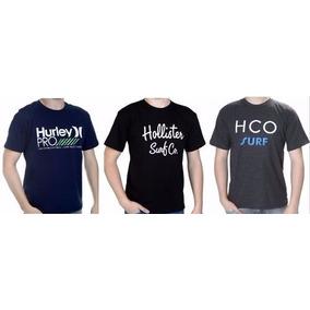 Kit 3 Camisas Camisetas Masculinas De Marca