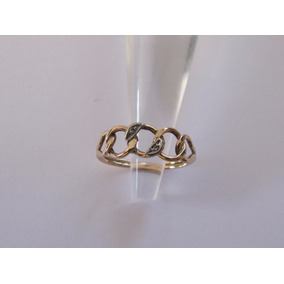 Anillo De Oro Con 2 Diamantitos