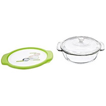 Plato Anchor Hocking 2-quart De Cristal A La Cacerola Con