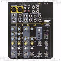 Consola Mezcladora Skp Vz6.2 - 6 Canales Usb Mp3 Ecualizador