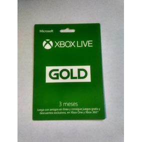 Membresia Xbox Live Gold 3 Meses Envio Inmediato
