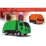 Caminhão Coletor De Lixo Roma Na Cor Verde