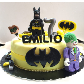 Pastel Decorado Con Fondant, Lego Batman, Cumpleaños.