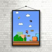 Coleção Super Mario Bros Com Moldura Premium
