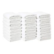 10 Toallas De Manos Blancas 100% Algodón (60 X 40 Cm)