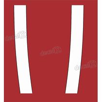 Adesivo Faixa Capo Mini Cooper Oracal Em Branco/preto Decalx