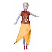 Donna - Laranja Com Glitter - Bonecas Artesan