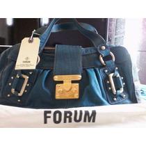 Linda Bolsa De Couro Da Marca Forum Original
