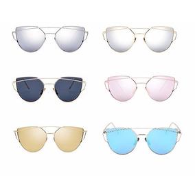 Oculos Feminino Triangular Espelhado Geometrico Prata Pink 2040fc97a6