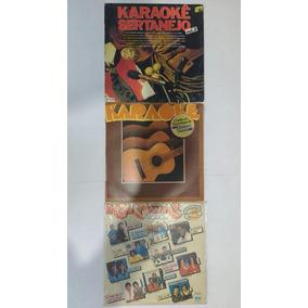 3 Lps Karaoke Música Sertaneja Disco De Vinil Frete Grátis
