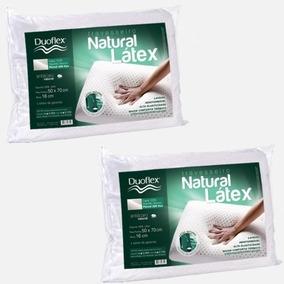 Kit C/ Dois Travesseiros Duoflex Natural Latex 50x70x16