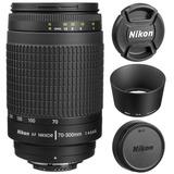 Lente Nikon 70-300mm Nikkor F/4-5.6g Af Auto Focus Tele Phot